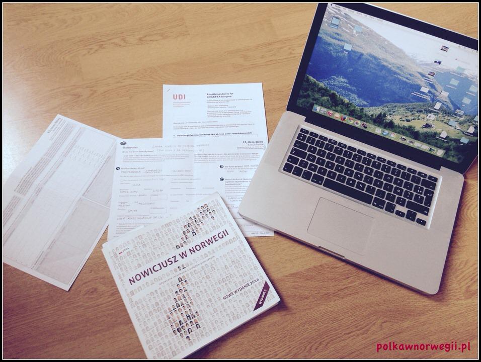pobyt w Norwegii, dokumenty