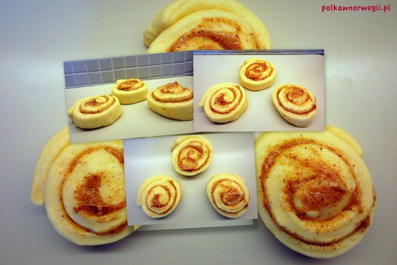 Kanelbullar - surowe. Teraz tylko posmarować roztrzepanym jajkiem, posypać cukrem perlistym i wstawić do piekarnika na 10 minut!