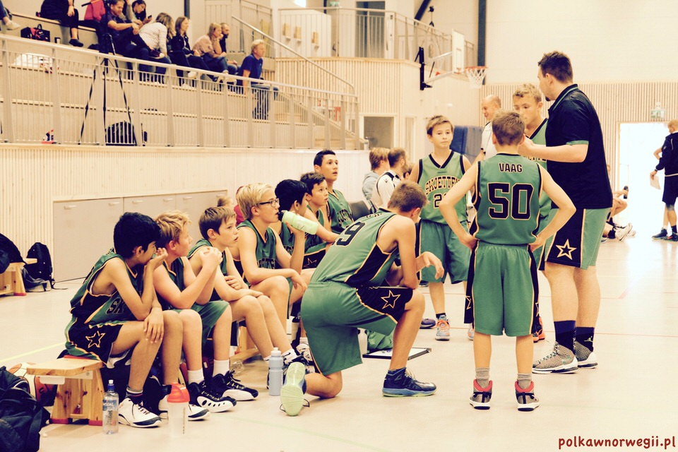 Koszykówka w Norwegii - drużyna Skjetten Basketball w trakcie meczu