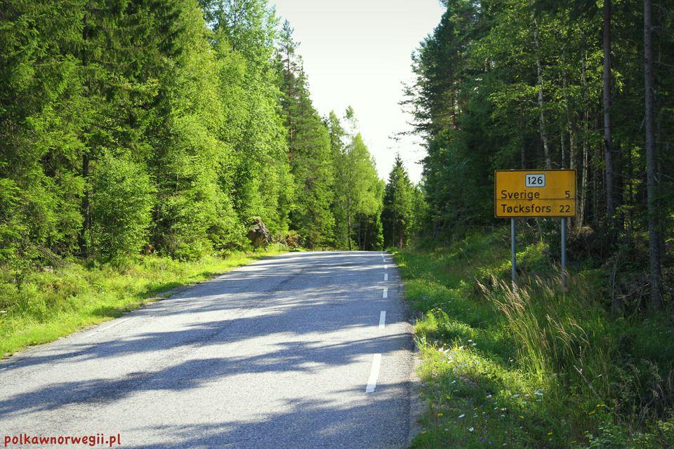 Na zakupy do Szwecji_fragment drogi prowadzącej do Töcksfors