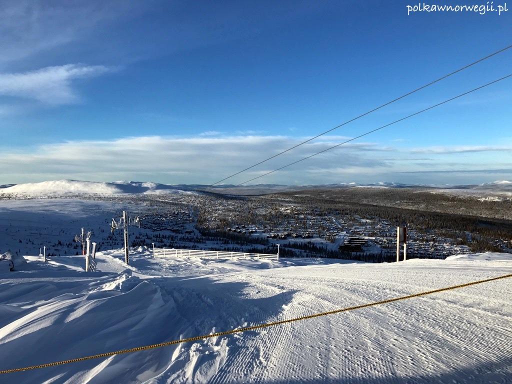 Trysilfjellet - widok ze szczytu